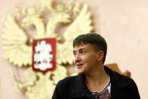 Ukrainos nacionalistai apmėtė kiaušiniais N. Savčenko