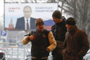 V. Putinas užregistruotas kandidatu į Rusijos prezidentus