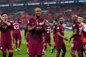 """""""Manchester City"""" futbolininkai – Anglijos čempionai"""