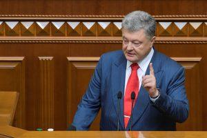 P. Porošenka: Ukraina ištrūko iš nepriklausymo blokams spąstų ir žengia į NATO
