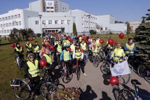 Nuo širdies ligų gydytojai ir jų pacientai spruko dviračiu
