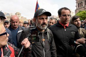 Armėnijos protestų lyderis Pašinianas suimtas, policija tai neigia
