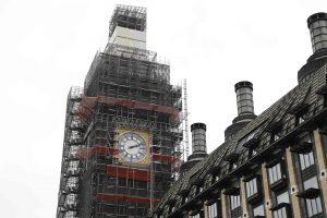 Žymusis Londono laikrodis – vėl mėlynas