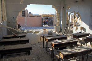 UNICEF: aviacijos smūgiai Sirijos mokyklai – karo nusikaltimas