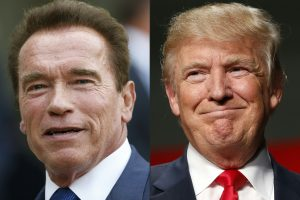 D. Trumpas paprašė pasimelsti už A. Schwarzeneggerio reitingus