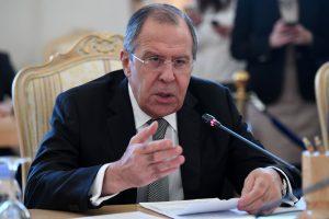 S. Lavrovas: Rusijos santykiai su JAV yra laukimo stadijoje