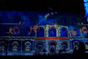 Šveicarijos viduramžių miestelyje vyko įspūdingas šviesų festivalis