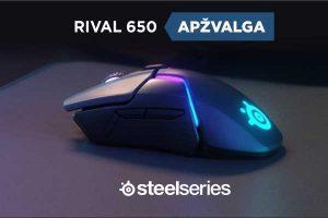 """Belaidės pelės """"SteelSeries Rival 650"""" apžvalga"""