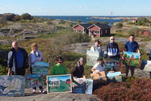 Rajono tautodailininkai vyko į plenerą Suomijos saloje
