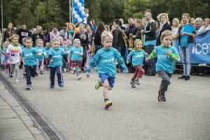 UNICEF vaikų bėgimo metu – eismo ribojimai