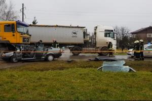 Marijampolėje per lengvojo ir krovininio automobilių avariją žuvo keleivė