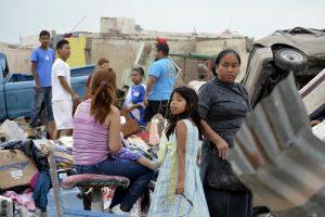 Meksikos pasienio mieste viesulas nusinešė 10 gyvybių
