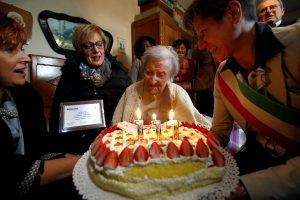 Seniausiu pasaulyje žmogumi laikoma italė atšventė 117-ąjį gimtadienį