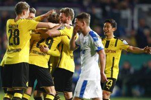 """""""Borussia"""" sutriuškino varžovus ir pateko į Vokietijos taurės pusfinalį"""