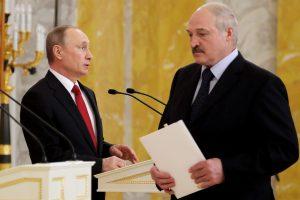 V. Putinas su A. Lukašenka ketina aptarti neišspręstus dvišalius klausimus