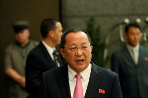Šiaurės Korėja teigia, kad D. Trumpas paskelbė jai karą