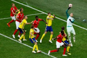 Švedija pateko į pasaulio futbolo čempionato ketvirtfinalį