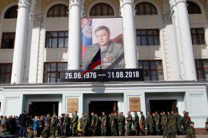 Dešimtys tūkstančių žmonių atėjo atsisveikinti su nužudytu A. Zacharčenka