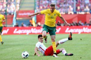 Lietuvos futbolininkai nenusileido Europos čempionato dalyvei Lenkijai