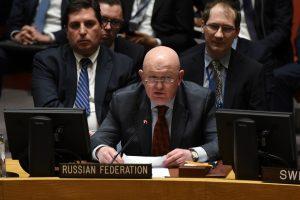 Rusijos ambasadorius: Jungtinėse Tautose dėl paliaubų Sirijoje nesusitariama