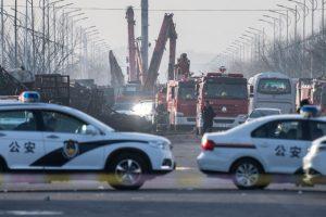 Sprogimas olimpiadai besiruošiančiame Kinijos mieste įvyko dėl dujų nuotėkio