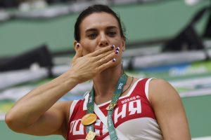 WADA kritikuoja Rusiją dėl J. Isinbajevos paskyrimo antidopingo agentūros vadove