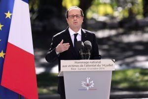 Prancūzijos prezidentas paragino žmones išsaugoti nacionalinės vienybės dvasią