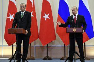 R. T. Erdoganas: aptarta su V. Putinu dėl saugumo zonų kūrimo Sirijoje