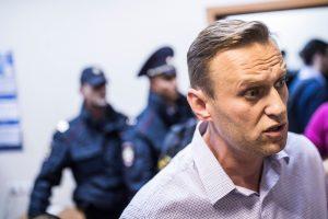 A. Navalnas išėjo iš areštinės, pasibaigus administracinio arešto laikui