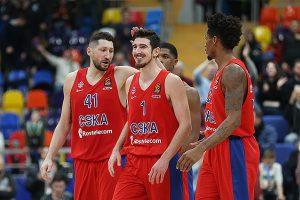 CSKA krepšininkai Eurolygoje iškovojo dešimtąją pergalę