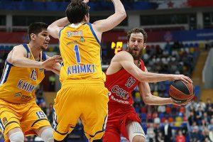 CSKA krepšininkai – per žingsnį nuo Eurolygos pusfinalio