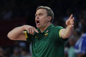 Lietuvos rinktinės treneris D. Adomaitis: esu patenkintas visų žaidėjų darbu