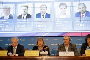 Rusijos prezidento rinkimai: V. Putinas užsitikrino ketvirtąją kadenciją (apklausa)