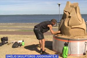 Juodkrantę papuošė smėlio skulptūros