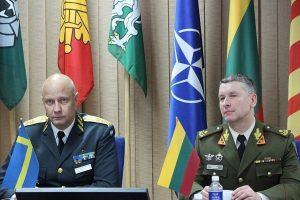 Lietuva ir Švedija aptarė karinį bendradarbiavimą