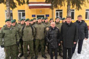 Krašto apsaugos ministras Ukrainoje susitiko su Lietuvos kariais