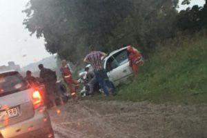 Per avariją Kauno rajone sužaloti trys žmonės