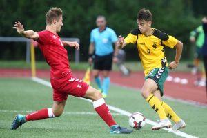 Lietuvos U-21 futbolo rinktinė nusileido grupės lyderiams