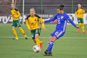 Lietuvos moterų futbolo rinktinė nusileido Izraelio ekipai