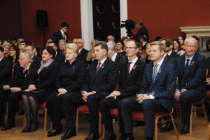 Vilniaus rotušėje iškilmingai paminėta Konstitucijos diena