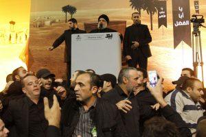 """Retas """"Hizbollah"""" vadovo pasirodymas viešumoje"""