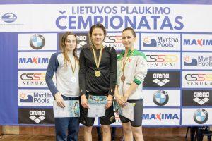 Plaukikė A. Šeleikaitė pasaulio taurės varžybose Kazanėje – trečia