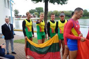 Europos jaunimo čempionate Lietuvos irkluotojai iškovojo sidabrą