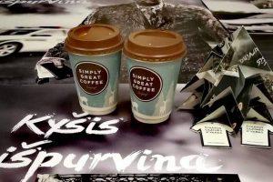 Vairuotojai kviečiami išgerti kavos su policininkais