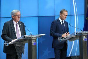 """ES lyderiai nesutaria dėl Europos po """"Brexit"""" ateities"""
