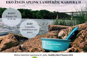 Šeštadienį – ekologinis žygis aplink Lampėdžių karjerą