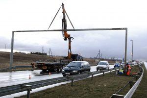 Antradienio rytą vairuotojus šokiravo uždarytas kelias į Palangą