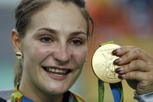 Dviračių treko moterų sprinto rungties auksą iškovojo vokietė