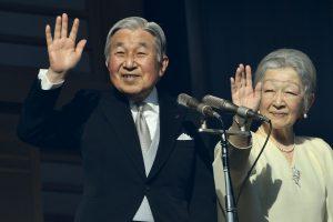 Japonijos imperatoriaus sveikinimo klausė tūkstantinė minia