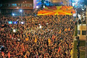 Makedonijoje tūkstančiai žmonių protestavo prieš planuojamą vyriausybę